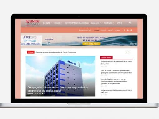 Création site internet Business Finance International